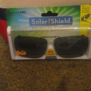 Solar Shield Polarized Clip ons 100% UVA/UVB